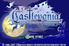 Harmony's title screen
